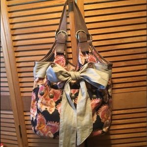 Anthropologie Deux Lux Multicolored Hobo Bag